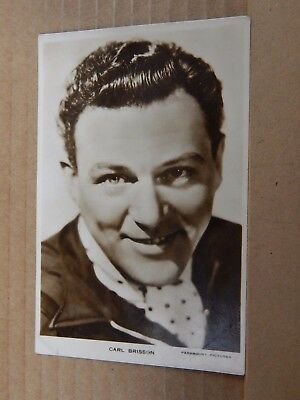 Film Star postcard Carl Brisson  Real Photo unposted