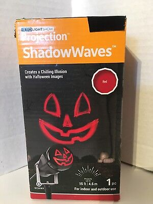 Halloween Projection 2019 (Gemmy LED Lightshow Projection Shadow Waves Red Pumpkin Face Halloween Decor)