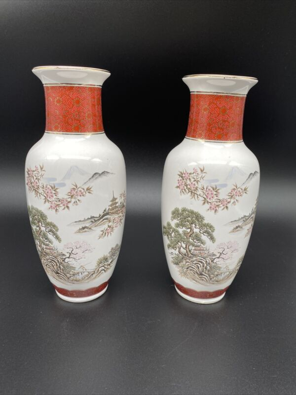 Pair of Vintage CC Japanese Vases