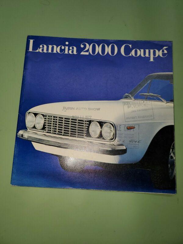 1973 Lancia 2000 coupé brochure