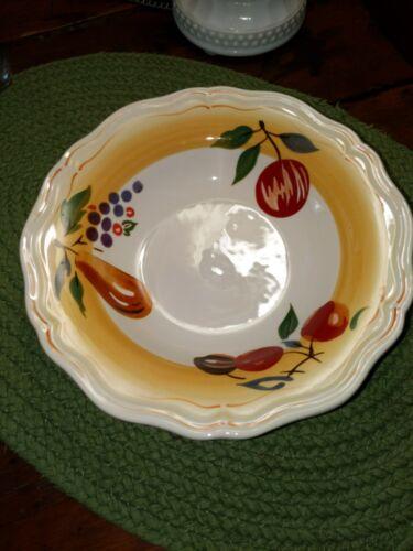 1- Longaberger Pottery - Napa Orchard - Cereal / Salad Bowls