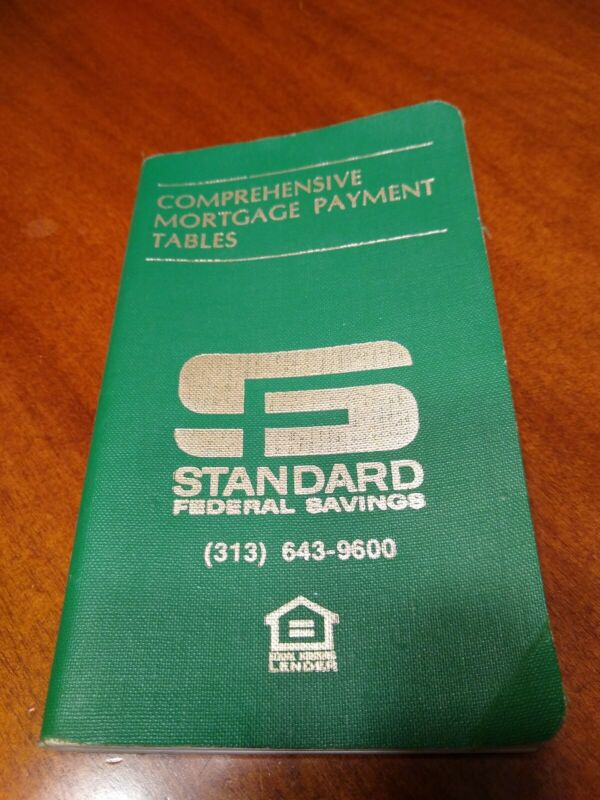 Comprehensive Mortgage Payment Tables 1978 Pub #492 Standard Federal Savings