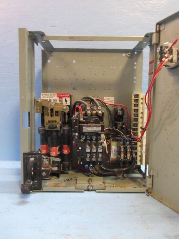 "General Electric GE 8000 Series 600V Size 2 Starter 60 Amp Fused 18"" MCC Bucket"