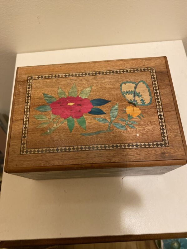 Rare!!! Old 6 Sun 50 Step Japanese Hidden Drawer Puzzle Box