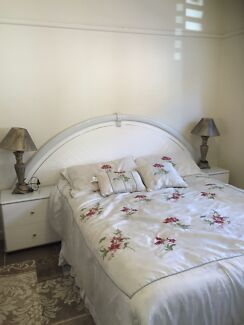 White Queen bed including mattress & matching dressing table Mount Lewis Bankstown Area Preview