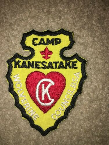 Boy Scout BSA Camp Kanesatake Yellow Arrowhead Wolverine Council Michigan Patch
