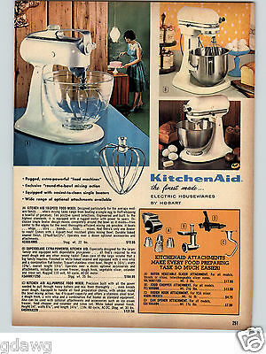 1966 PAPER AD Kitchenaid Electric Food Mixer Hobart Superdeluxe Extra Powerful