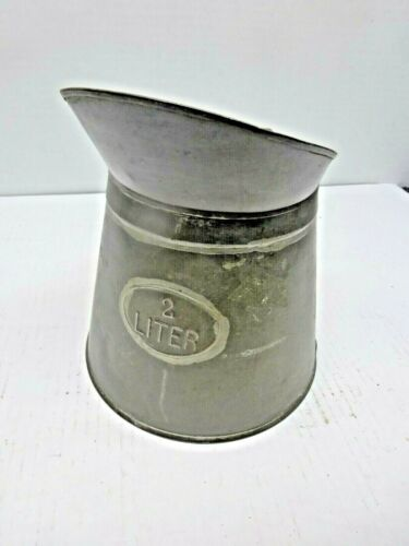 Antique Measure Pour Can 2 L. Hand Soldered