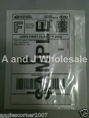Qty 300 Clear Packing List Postage Shipping Label Envelopes 7x5.5 Self Adhesive
