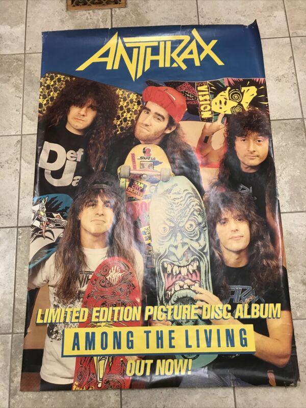 Anthrax Among The Living Promo Jumbo Poster 58x40