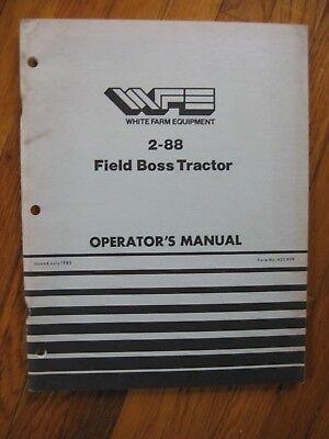 White 2-88 Field Boss Tractor Operators Manual Original