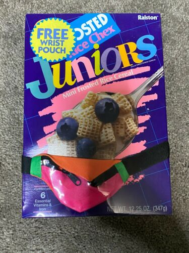 FROSTED RICE CHEX JUNIORS FREE WRIST POUCH SEALED 1990  VINTAGE CEREAL