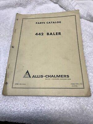 Allis-chalmers Model 442 Baler Dealer Parts Catalog Manual