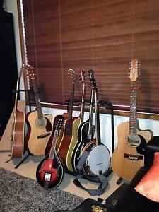 Guitars, Banjos, Mandolin Warners Bay Lake Macquarie Area Preview