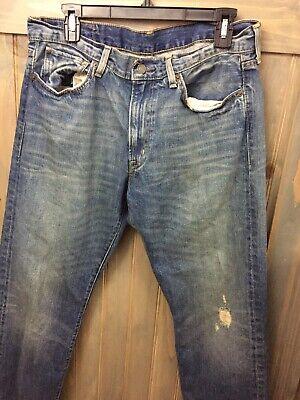 RALPH LAUREN DENIM & SUPPLY ZIP FLY DISTRESSED DESTROY JEANS 32x32 Straight Distressed Zip Fly Jeans