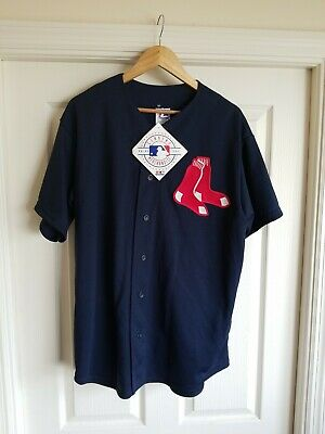 NWT Boston Red Sox Navy/Red Majestic Batting Practice Jersey - Size Large (Red Sox Batting Practice Jersey)