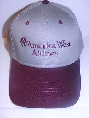 Airline Pilot Cap (AMERICA WEST AIRLINE BASEBALL CAP AIRPLANE PILOT FATHERS DAY / CHRISTMAS GIFT )