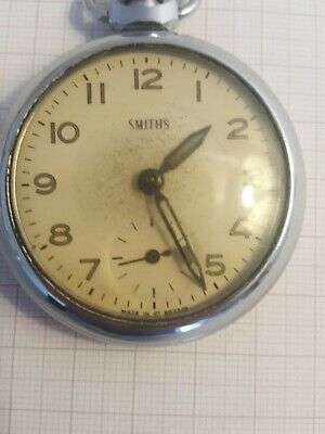 Vintage Smiths Pocket Watch Good Working Order - Made in Great Britain