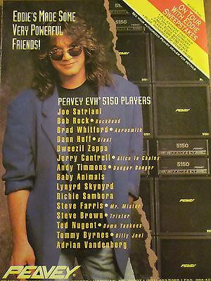 Eddie Van Halen, Peavey Guitars and Amps, Full Page Vintage Promotional Ad
