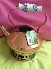 DUTCH  COPPER TEAPOT ON WARMER/35YRS OLD Mackay Mackay City Preview