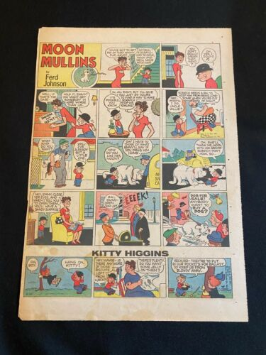 #23 MOON MULLINS By Ferd Johnson Sunday Tabloid Full Page Strip March 20, 1950