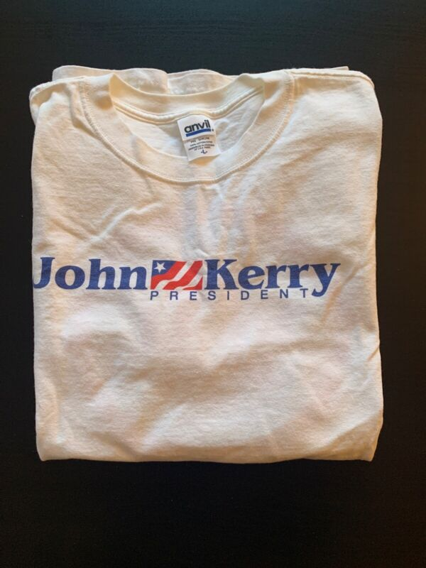 John Kerry For President 2004 T-Shirt Size L, Never Worn!