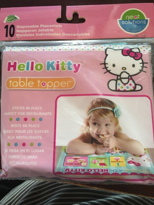 Hello Kitty Disposable Placemats Table Topper BPA Free Neat Solutions