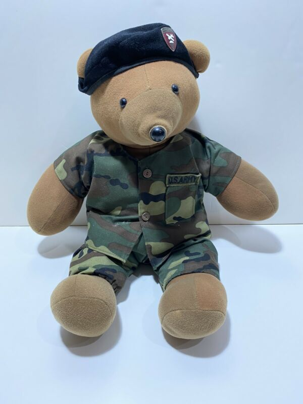 US Army Airborne Paratrooper 1985 Teddy Bear JJ Wind Beret Brown/green