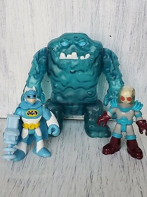 Imaginext DC Super Friend Lot Mr Freeze Batman Gun Figure Blue Ice Clay Face