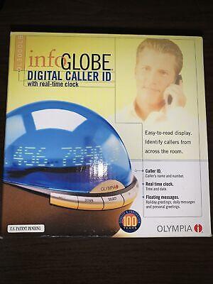 Olympia InfoGlobe OL3000 Digital Caller ID/Clock with Box Blue