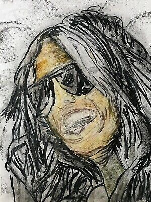 STEVEN TYLER FINE ART IMPRESSIONISM MIX MEDIA BY d'design 9x10 STRETCH CANVAS