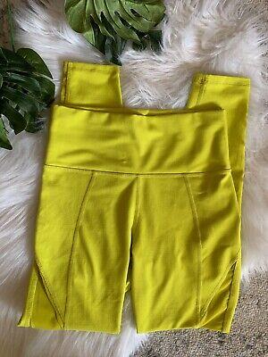 Fabletics x Demi Lovato High Waisted Mesh PowerHold leggings neon Women Size XXS