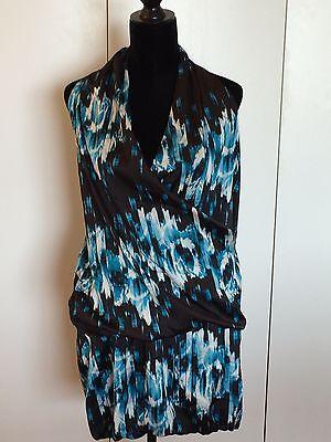Bubble Wrap Kleid (Derek Lam for Design Nation Women's Dress XS Silky Drape Wrap Bubble Sleeveless )