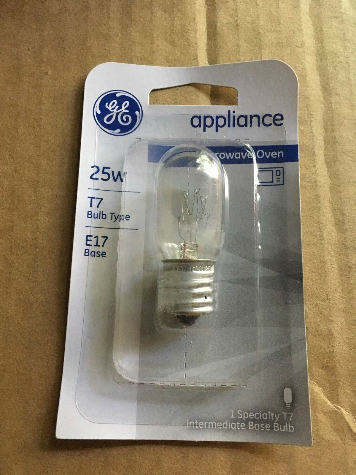 GE 10692 25 Watt Clear incandescent Microwave Oven Light Bul