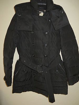 BURBERRY BRIT 'Midallerdale Down Puffer Coat Women Size Large Black MSRP $ 995.0