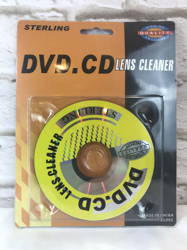 Sterling CD DVD lens cleaner For Dvd & CD Players, Car Radio, Or Any Disk Reader