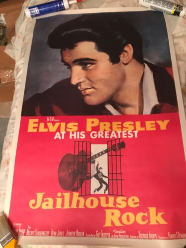 Elvis Presley Jailhouse Rock One Sheet Poster 28 x 41