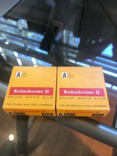 Kodachrome II Color Movie Film 8mm Unused unopened 2 boxes 1973