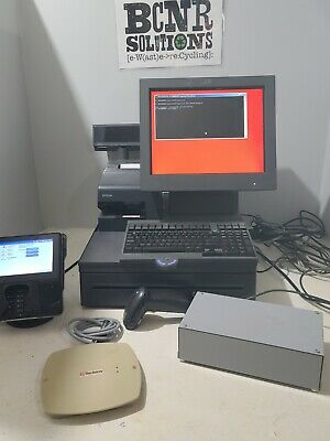 Ibm Point Of Sale Machine W Printer Barcode Scanner Sig Pad Security Magnet