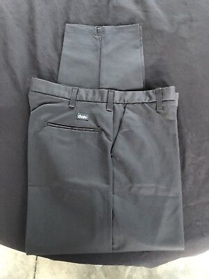 4 New Cintas Comfort Flex Charcoal Grey            Work Pants Size 32x34 #945-33
