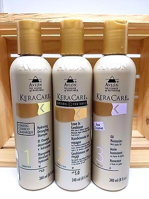 KERACARE HYDRATING SHAMPO+LEAVE IN CONDI+OIL MOISTURIZER SET+FREE CLEANSING WIPE - Free Moisturizing Cleansing Wipes