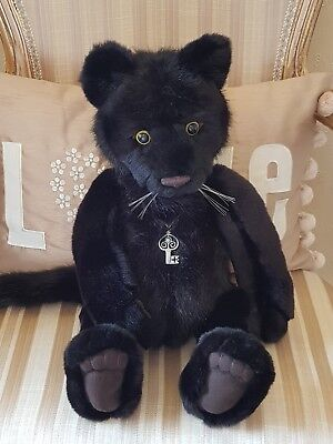 CHARLIE BEAR SHEBA BLACK  PANTHER  WITH TAGS