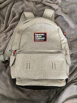 gray/red/blue superdry Japan outdoor backpack