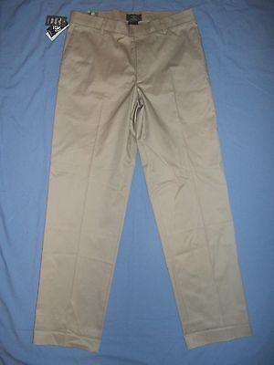 DOCKERS MEN'S BEIGE CLASSIC FIT FLAT FRONT DRESS PANTS SIZE 34 NWT - 3170