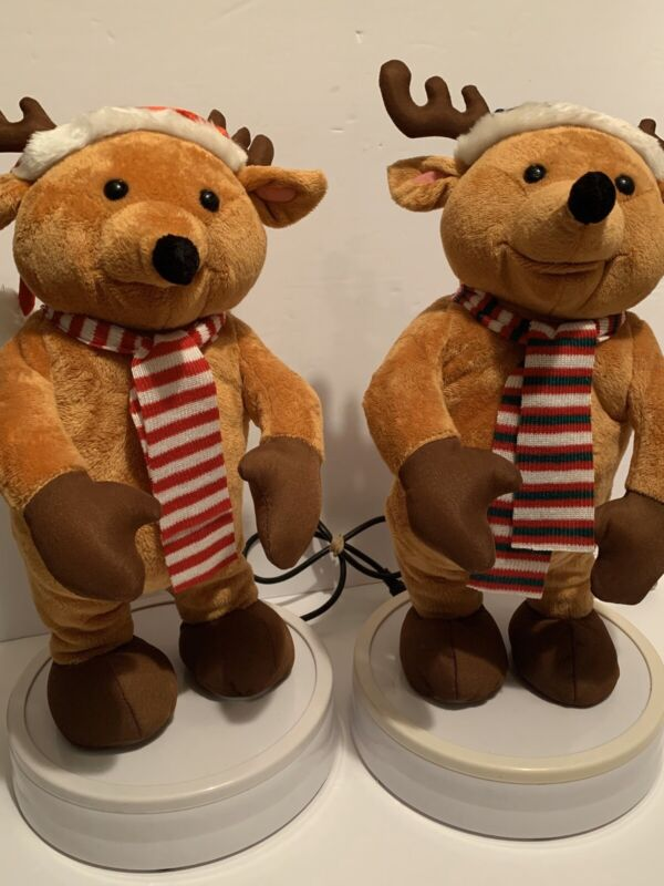"""Gemmy Animated Reindeer Replacements For 3 Piece Band 18"""""""