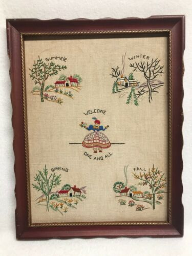 Vintage Seasons Needlepoint Sampler