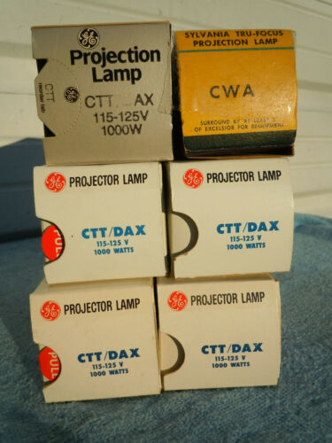Lot of 6 VTG NEW NIB NOS GE PROJECTOR LAMPS BULB CTT/CTS AND CWA