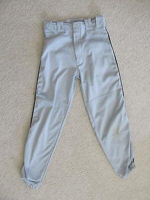 Champro Sports Men's Baseball Pants  Size Adult-Medium Gray w/ black piping