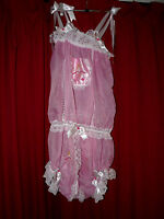 Pink Sheer Mesh & Satin Baby Dolly Body Sugar & Spice Xxl Ab Sissy - h&s switzerland by germany - ebay.co.uk
