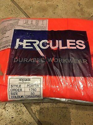 HERCULES PCRTTR DELTA RAIL ORANGE HI-VIS TROUSERS W 50